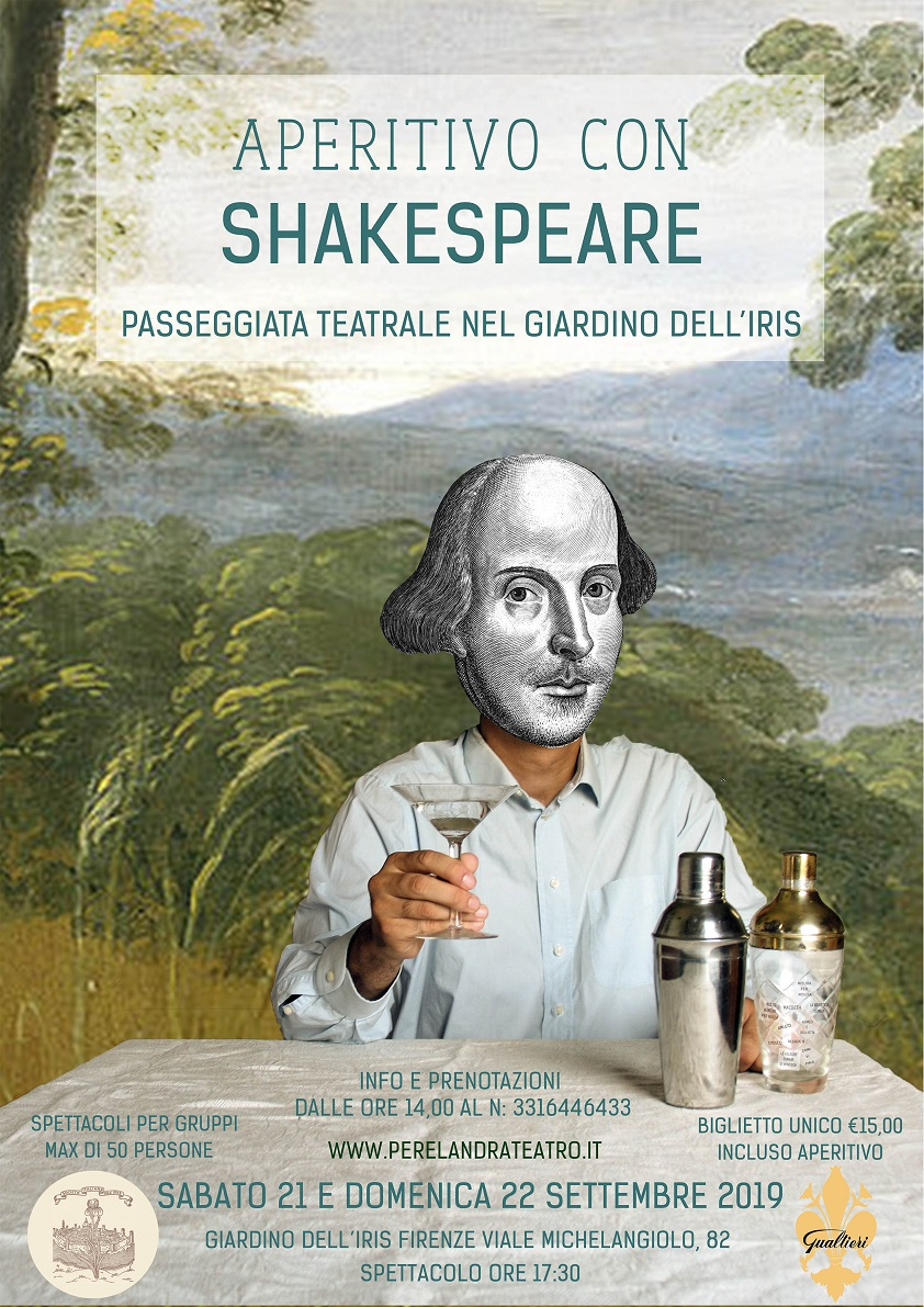 Aperitivo con Shakespeare al Giardino dell'Iris – sabato 21 e domenica 22 settembre 2019