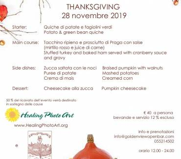 Thanksgiving 2019 al Golden View Firenze