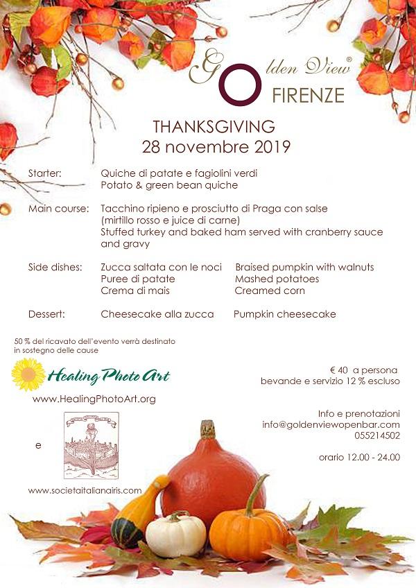 Thanksgiving 2019 al Golden View Firenze