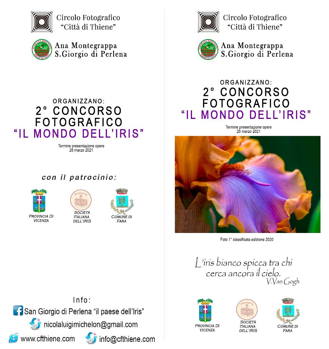 """2° Concorso Fotografico """"IL MONDO DELL'IRIS"""""""