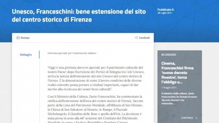 Facciamo parte del PATRIMONIO MONDIALE DELL'UNESCO